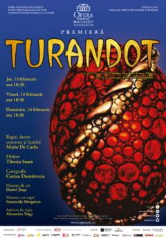 Turandot, ultima opera a lui Puccini, premiera pe scena Operei Nationale Bucuresti