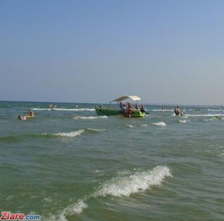Turistii din Mamaia pot verifica pe Net temperatura apei, directia vantului si curentii marini