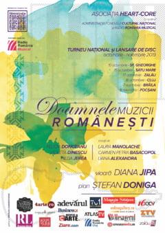 """Turneu national pentru promovarea proiectului cultural """"Doamnele muzicii romanesti"""" - recitaluri Diana Jipa si Stefan Doniga"""
