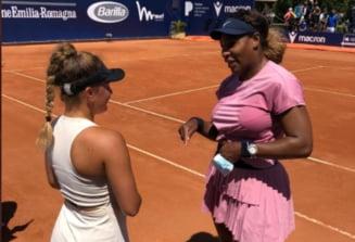 Turneul de la Parma: Serena Williams a batut o pustoaica de 17 ani. Cum a reactionat la final tanara jucatoare VIDEO