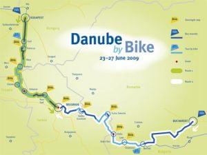 Turul Dunarii pe bicicleta a ajuns la Portile de Fier
