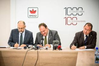 UDMR, PPMT si PCM au semnat o rezolutie care prevede autonomia teritoriala a Tinutului Secuiesc, in limitele sale istorice