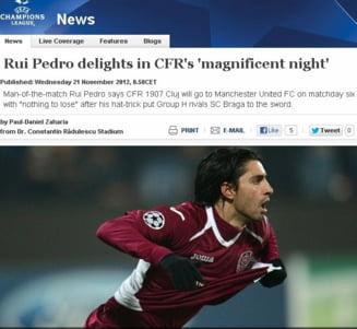 """UEFA, despre """"seara magnifica a CFR-ului"""""""