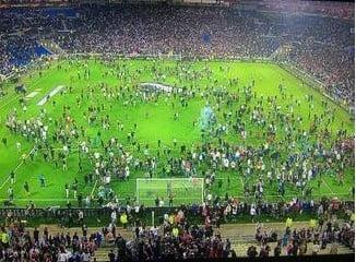 UEFA a anuntat pedepse dure dupa incidentele de la meciul Olympique Lyon - Besiktas