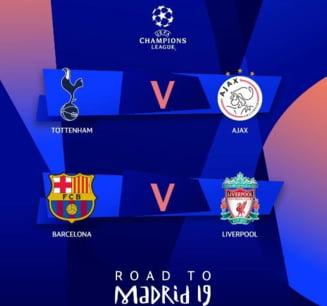 UEFA a anuntat programul semifinalelor Ligii Campionilor