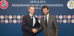 UEFA face ancheta in cazul echipelor care au fondat Superliga europeana de fotbal. De ce sunt incriminate Barcelona, Real Madrid si Juventus