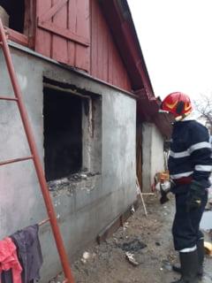 ULTIMA ORA! FOTO! Incendiu intr-o gospodarie din Movilita din cauza unui scurtcircuit electric