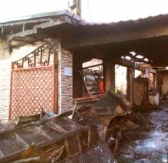 ULTIMA ORA! Incendiu de proportii la un magazin mixt din Marasesti, din cauza unei aeroterme lasate in functiune pe timpul noptii