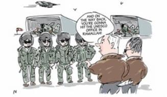 UNESCO cearta Israelul pentru ca bombardeaza Iran si ONU intr-o caricatura
