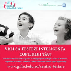 UNIC IN ROMANIA! Testari IQ la nivel international pentru selectia copiilor supradotati