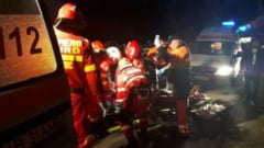 UPDATE | FOTO/VIDEO ACCIDENT rutier mortal la Strungari. Se efectueaza manevre de descarcerare