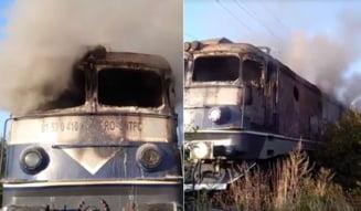 UPDATE: 9 trenuri vor avea întârzieri de până la 300 de minute, după ce locomotiva unui tren de călători a luat foc în județul Arad