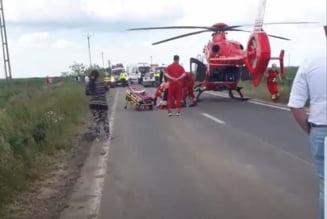 UPDATE. Accident grav pe un drum din Timis: cinci persoane ranite, a fost solicitat elicopterul SMURD