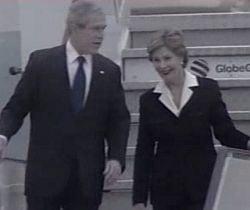 UPDATE: Presedintele american George W. Bush a aterizat la Bucuresti (VIDEO)
