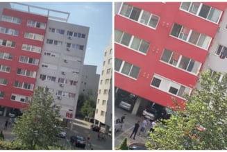 UPDATE. Sinucidere pe strada Poetului! Un barbat s-a aruncat de la etajul 8 al unui bloc