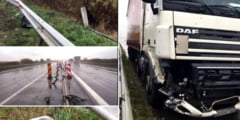 UPDATE (VIDEO) ACCIDENT. UN TIR A SPULBERAT GLISIERELE