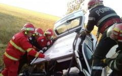 UPDATE Accident grav in judetul Dolj. Patru persoane au decedat, iar una a fost transportata la spital cu elicopterul VIDEO