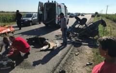 UPDATE Accident pe E 70. Un copil aflat intr-o caruta si-a pierdut viata
