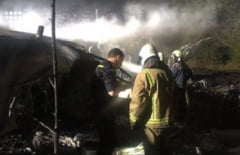UPDATE Tragedie aviatica in Ucraina. Unul dintre cadetii care au sarit din avion inainte de prabusire a murit la spital