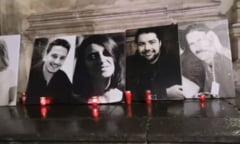 UPDATE VIDEO Omagiu adus victimelor incendiului de la Colectiv. Fotografii si candele pe scarile Curtii de Apel Bucuresti