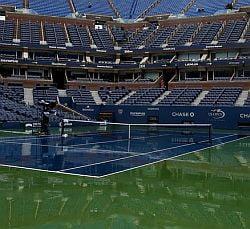 US Open, amanat din cauza ploii