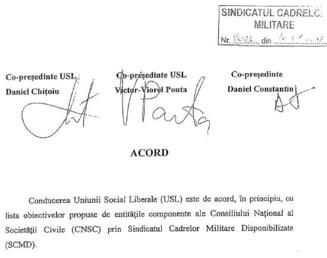 """USL, de acord """"in principiu"""" cu desfiintarea DNA, CCR, ANI si CNSAS - vezi documentul (Video)"""