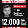 USR: Comisarul demis de la conducerea Politiei Caracal iese la pensie cu 12.000 de lei pe luna
