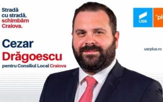 USR PLUS a retras de pe lista de la Dolj un candidat cu limbaj rasist si grobian. Cezar Dragoescu avea loc eligibil la Camera Deputatilor
