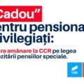 USR-PLUS solicita CCR o decizie de urgenta pe proiectul privind impozitarea pensiilor speciale cu pana la 85%