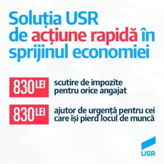 USR cere zero taxe pe salariul minim: Fiecare roman ramane cu 830 de lei in plus in mana. Plus impozit de 90% pentru pensiile speciale