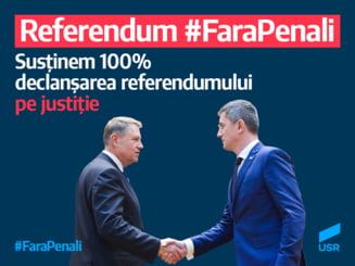 USR saluta anuntul lui Iohannis: Asteptam de doi ani de zile acest referendum