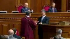 Ucraina are un nou presedinte - Porosenko a depus juramantul: Nu vreau razboi, avem nevoie de pace