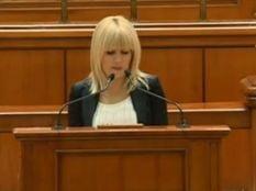 Udrea, in Parlament: Nu ma voi da cu mir. In arest m-au dezbracat si mi-au luat sutienul