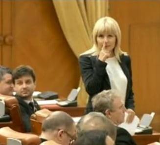 Udrea explica gestul bizar din Parlament - Ce mesaj a vrut sa transmita