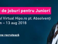 Ultimele zile in care studentii si absolventii pot accesa 800 de joburi in cadrul Targului Virtual Hipo.ro pentru Absolventi