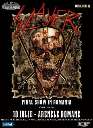 Ultimul concert din cariera trupei Slayer va avea loc la Bucuresti