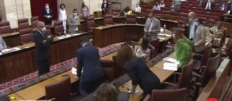 Un șobolan a întrerupt o ședință a Parlamentului. Cum au reacționat aleșii VIDEO