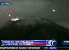 Un OZN s-a prabusit intr-un vulcan din Mexic? (Video)