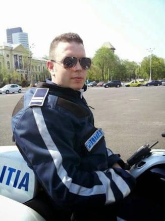 Un an de la moartea politistului Bogdan Gigina - Zeci de politisti, in frunte cu tatal sau, l-au comemorat (Video)