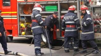 Un autobuz a luat foc in mers, la Iasi