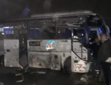 Un autocar cu turisti a explodat langa piramidele din Egipt: Cel putin 14 victime