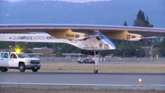 Un avion alimentat cu energie solara incearca sa traverseze America