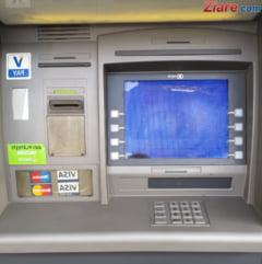 Un bancomat a fost aruncat in aer de hoti, in Arad