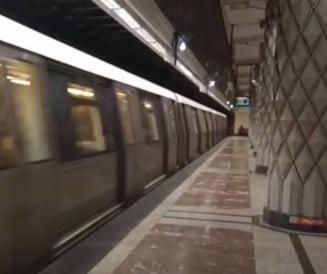 Un barbat a murit dupa ce s-a aruncat in fata metroului, la Politehnica