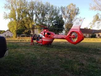 Un bebelus de doar 17 zile, dus cu elicopterul SMURD la Targu Mures, pentru o operatie dificila pe inima