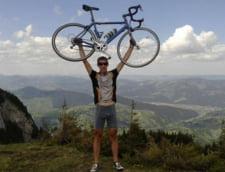 Un biciclist sucevean incearca sa doboare un record mondial pentru Rosia Montana