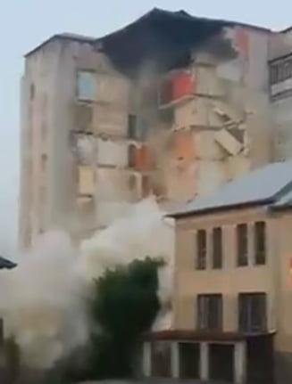 Un bloc de 9 etaje din Republica Moldova s-a prabusit (Video)