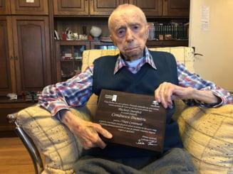 Un bucurestean de 111 ani a fost declarat al treilea cel mai longeviv barbat de pe Pamant