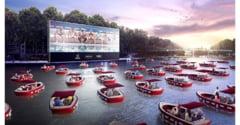 Un cinematograf plutitor in aer liber se va deschide in aceasta vara pe plajele din Paris