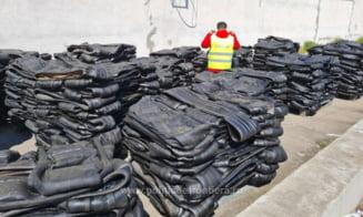 Un container din Marea Britanie cu 25 de tone de deseuri din cauciuc a fost descoperit in Portul Constanta